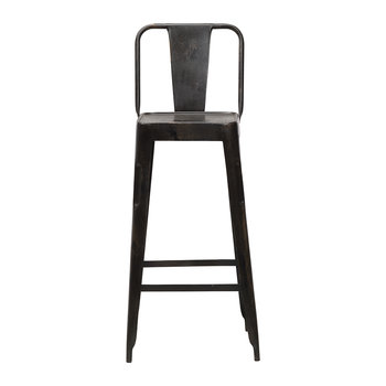 Chari Bar Chair - Distressed Black