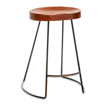Loko Leather Stool