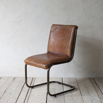 Narwana Desk Chair - Aged Leather