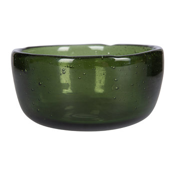 Riya Glass Bowl - Dark Emerald