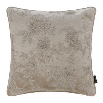 Floral Embroidered Cushion - 45cmx45cm