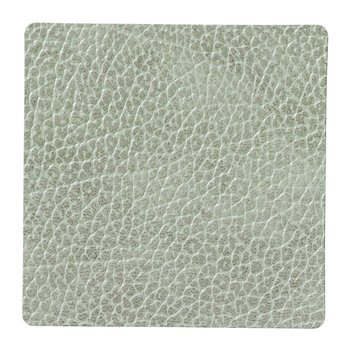 Hippo Square Drinks Coaster - Olive Green