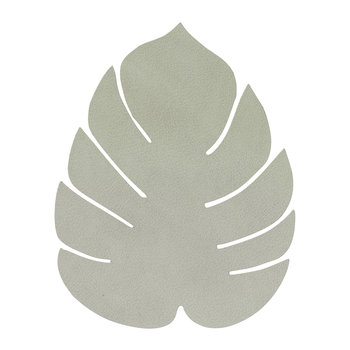 Monstera Leaf Drinks Coaster - Olive Green