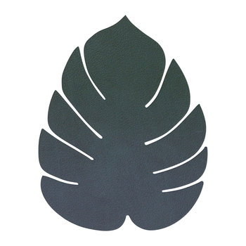 Monstera Leaf Drinks Coaster - Dark Green