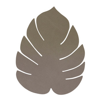 Monstera Leaf Drinks Coaster - Army Green