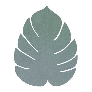 Monstera Leaf Drinks Coaster - Pastel Green