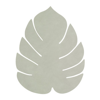 Monstera Leaf Table Mat - Large - Olive Green