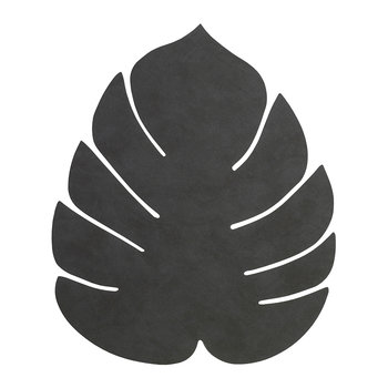 Dessous-de-plat Feuille de Monstera - Grand - Noir