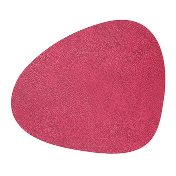 Hippo Curve Table Mat - Raspberry - Large
