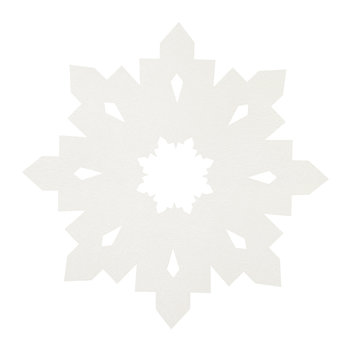 Snowflake Table Mat - White
