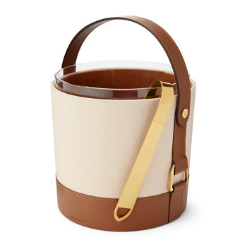 Garrett Leather & Canvas Ice Bucket