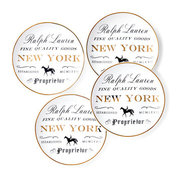Proprietor Canape Plate - Set of 4 - New York