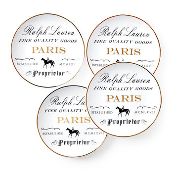 Proprietor Canape Plate - Set of 4 - Paris