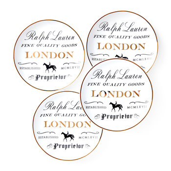 Proprietor Canape Plate - Set of 4 - London
