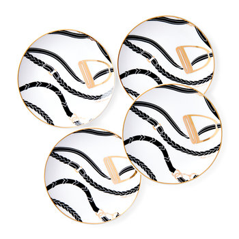 Amory Canape Plate - Set of 4 - Black