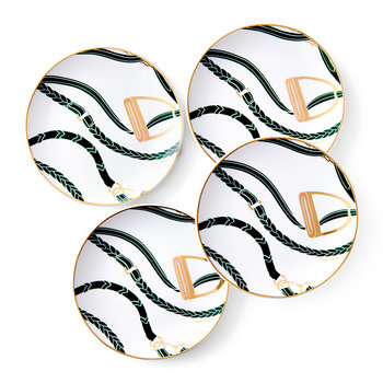 Amory Canape Plate - Set of 4 - Green