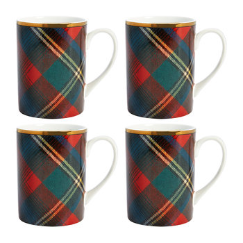 Alexander Tartan Mugs - Set of 4