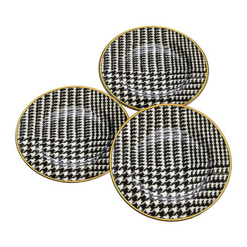 Wessex Houndstooth Dessert Plate - Set of 4