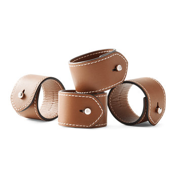 Wyatt Napkin Ring - Set of 4 - Saddle