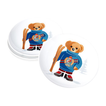 Haven Ski Bear Dessert Plate - Set of 4