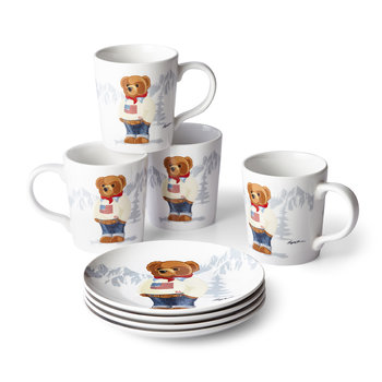 Haven Flag Bear Mug - Set of 4