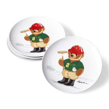 Haven Polo Bear Dessert Plate - Set of 4