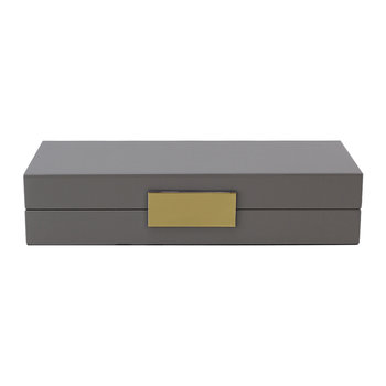 Lacquer Box with Metal Clasp - 10x22cm - Chiffon