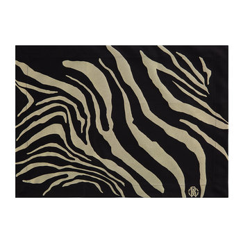 Zebrage Placemat - Set of 2 - Black