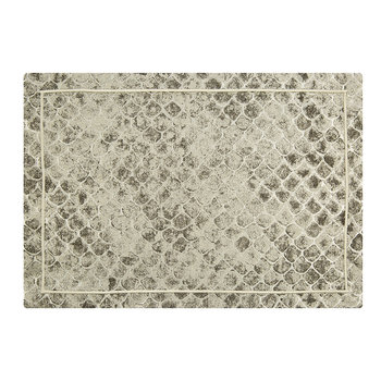 Flakes Jacquard Placemat - Set of 2 - Platinum
