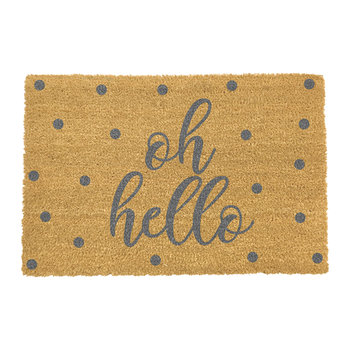 Oh Hello Door Mat - Grey