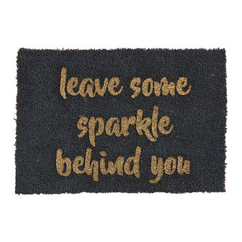Leave Some Sparkle Behind You Door Mat