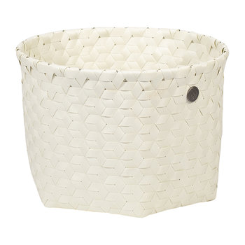 Dimensional Open Round Basket - Small - Ecru White