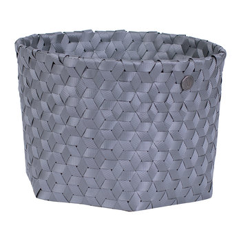 Dimensional Open Round Basket - Small - Dark Gray