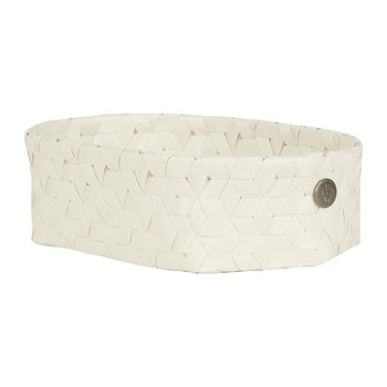 Dimensional Open Oval Basket - Extra Small - Ecru White