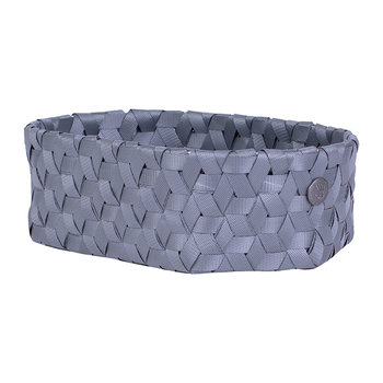 Dimensional Open Oval Basket - Extra Small - Dark Grey