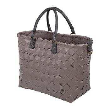 Saint-Tropez Travel Bag with PU Handles - Stone Brown