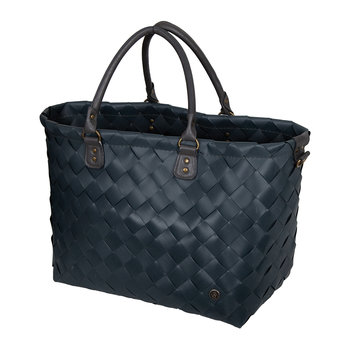 Saint-Tropez Travel Bag with PU Handles - Dark Grey