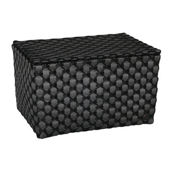 Toulon Rectangular Basket with Flaptop - Dark Grey/Black
