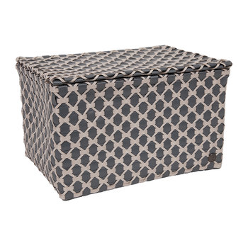 Toulon Rectangular Basket with Flaptop - Dark Gray/Pale Gray