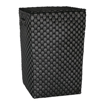 Lyon Square Basket with Handles - Dark Grey/Black