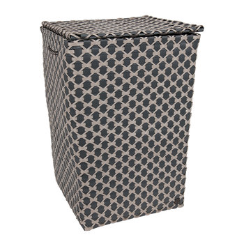 Lyon Square Basket with Handles - Dark Grey/Pale Grey