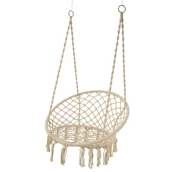Outdoor Hammock Chair with Fringing - Cream