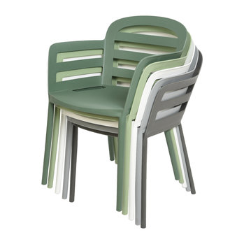 Outdoor Stackable Dining Chair - White
