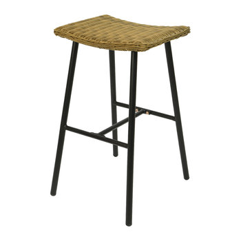 Outdoor Wicker Bar Stool - Black