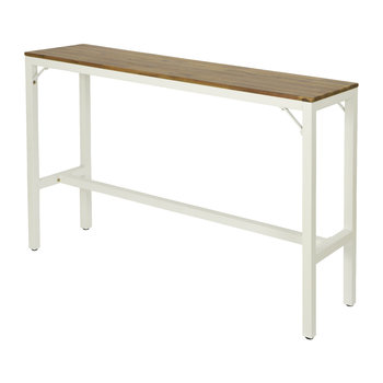 Outdoor Teak Wood Bar Table - White