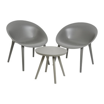 Outdoor Coffee Table & Chair Set - Anthracite