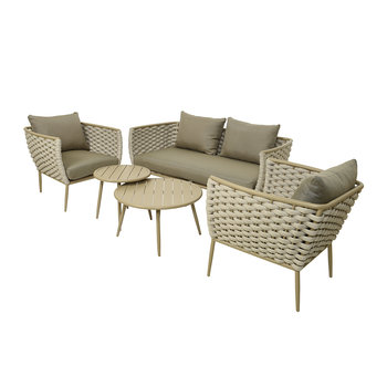 Outdoor Woven Lounge Set - Sand