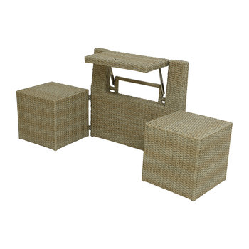 Outdoor Foldable Table and Chair Set - Natural
