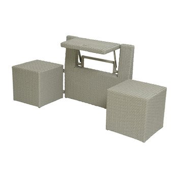Outdoor Foldable Table and Chair Set - Grey