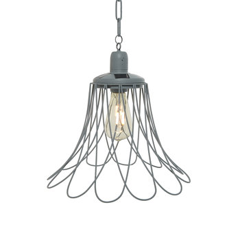 Outdoor Open Flower Ceiling Light - Grey